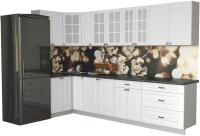 Готовая кухня Интерлиния Мила Деко 1.2x3.1 (белый/кастилло темный) -