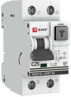 Дифференциальный автомат EKF PROxima АВДТ-63 C25/30мА / DA63-25-30 -