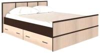 Двуспальная кровать Rikko Сакура 160х200 (венге/дуб атланта) -