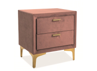 Прикроватная тумба Signal Monako Velvet (античный розовый/золото) -