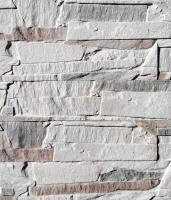 Декоративный камень Polinka Сланец Византийский слоновая кость 0901 (390x98x15) -