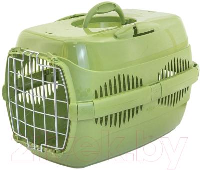 Переноска для животных ZooM Спутник-1 / 3992олив/олив
