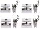 Монтажный комплект для радиатора Zehnder Charleston 774411 (белый) -
