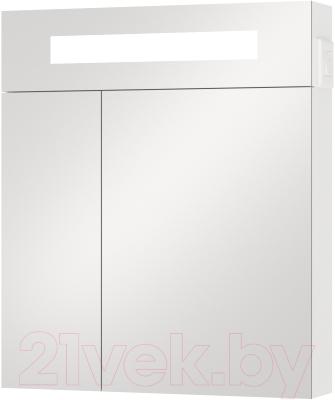 Шкаф с зеркалом для ванной Van Mebles Смайл 60