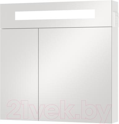 Шкаф с зеркалом для ванной Van Mebles Смайл 70