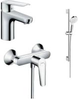 Комплект смесителей Hansgrohe Logis E 100d 71178000 + 71610000 + 26532400 -
