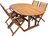 Комплект садовой мебели Sundays Award3 89546/89640 (4 стула, акация) -