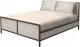 Двуспальная кровать Millwood Neo Loft КМ-2.6 (Л) (дуб белый Craft/металл черный) -