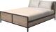 Двуспальная кровать Millwood Neo Loft КМ-2.6 (Л) (дуб табачный Craft/металл черный) -
