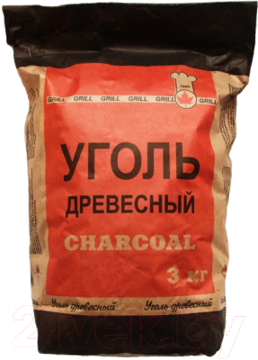 Уголь древесный Белдревресурс 3кг