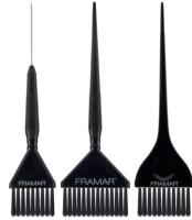 Набор кистей для окрашивания волос FRAMAR Family Pack Black (3шт) -