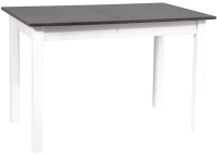 Обеденный стол Signal Horacy 100 (антрацит/белый матовый) -