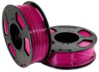 Пластик для 3D печати U3Print GF PETG 1.75мм 1кг (малиновый, светопропускающий) -