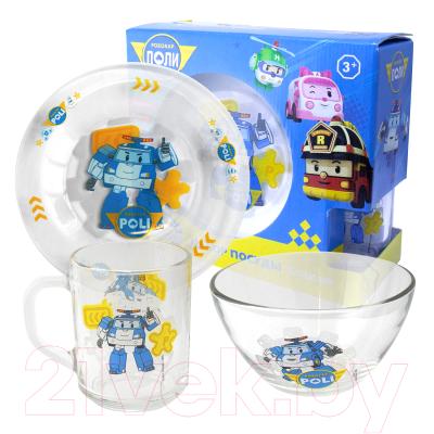 Набор столовой посуды ND Play Робокар Поли / 275868 набор nd play динамо машина