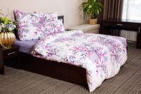 Комплект постельного белья Ночь нежна Сакура Премиум Евро 70x70 / 7098-1+7757-13 -