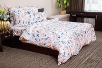 Комплект постельного белья Ночь нежна Акварельный цветок Премиум 2 сп. Евро 50х70 / 9270-1 (персик) -