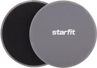 Набор слайдеров для фитнеса Starfit FS-101 (серый/черный) -