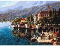Картина по номерам Azart Город на озере Комо / AZ3040GK-18 -