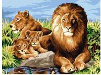 Картина по номерам Azart Львиная семья / AZ3040GK-09 -