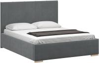 Полуторная кровать Woodcraft Шерона 140 вариант 9 (свинцовый бархат) -