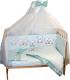 Комплект постельный в кроватку Баю-Бай Ми-ми Мишки / К31-ММ3 (зеленый) -