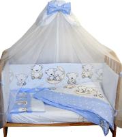 Комплект постельный в кроватку Баю-Бай Ми-ми Мишки / К50-ММ4 (голубой) -