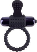 Виброкольцо Pipedream Vibrating Silicone Super Ring / 138626 (черный) -