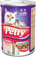 Корм для кошек Bono Petty с кусочками телятины и баранины / Pet01 (405г) -
