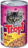 Корм для кошек Tropi Кусочки в соусе с домашней птицей / TROPI06 (415г) -
