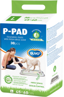 Одноразовая пеленка для животных Duvo Plus С ароматом свежей травы 45x60 / 11500/DV (30шт) -