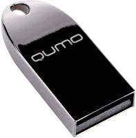 Usb flash накопитель Qumo MetalDrive 64GB Dark 2.0 / QM64GUD-Metal-d -