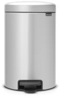 Мусорное ведро Brabantia Pedal Bin NewIcon / 113680 (12л, серый металлик) -