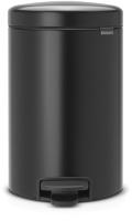 Мусорное ведро Brabantia Pedal Bin NewIcon / 113741 (12л, черный матовый) -