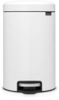 Мусорное ведро Brabantia Pedal Bin NewIcon / 113789 (12л, минерально-белый) -