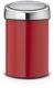Мусорное ведро Brabantia Touch Bin / 364426 (3л, пламенно-красный/стальной полированный) -