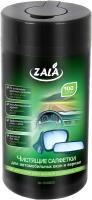 Влажная салфетка для мытья автомобиля ZALA Для автомобильных окон и зеркал (100шт) -