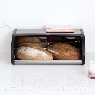 Хлебница Brabantia 299445 с защитой от отпечатков (стальной матовый/черный)