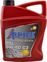 Моторное масло ALPINE RSL 5W40 C3 / 0100179 (4л) -