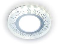 Точечный светильник Ambrella S217 CL/FR GU5.3+3W (Led White) -