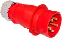Вилка силовая Bylectrica ВП32-902 (красный/серый) -