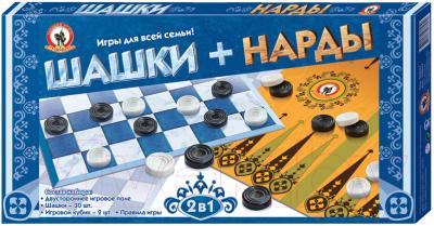 Набор настольных игр Русский стиль Шашки-нарды / RS-02021