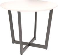 Обеденный стол Millwood Лофт Орлеан D100x75 (дуб белый/металл черный) -