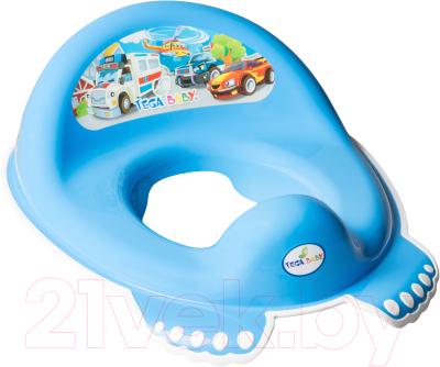 Детская накладка на унитаз Tega Машинки / CS-002-120 (синий)