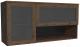 Шкаф навесной Глазов Paola 4 (дуб апрель темный) -