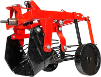 Картофелевыкапыватель Агромоторсервис КМ-1М (металлические колеса) -