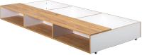 Комплект ящиков под кровать Mobi Вуди 02.09 (белый премиум/дуб золотой Craft) -