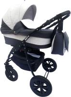 Детская универсальная коляска Alis Berta 20 2 в 1 (Be 27, темно-серый/светло-серый) -