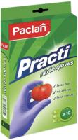 Перчатки одноразовые Paclan Practi Нитриловые (L, 10шт) -