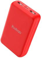 Портативное зарядное устройство Yoobao Power Bank P10W (красный) -