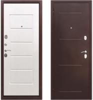 Входная дверь Юркас Гарда 7.5 Антик/белый ясень (96x205, левая) -